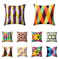 EG_ Modern Geometry Throw Pillow Case Cushion Cover Colorful Home Sofa Decor Hea
