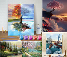 Oil Acrylic Painting Kit By Numbers Craft DIY Paint On Canvas Frameless Scenery