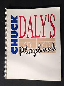 CHUCK DALY'S ORIGINAL PLAYBOOK DETROIT PISTONS 1992 OLYMPICS DREAM TEAM Mint