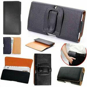 Universal PU Leather Wallet Belt Pouch Clip Hip Loop Case Cover for All iPhone