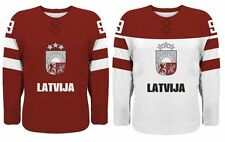 Team Latvia Replica Ice Hockey Jersey/Adult+Youth Sizes/Custom Name