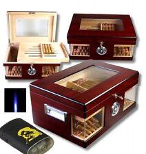 Wood Wonderful Kristallglas Humidor V-1320 inkl. LA-Feuerzeug und Tastingbogen