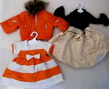 "LOT OF THREE GIRL DOLL OUTFITS FOR AMERICAN GIRL DOLLS AND 18"" DOLL CLOTHES"