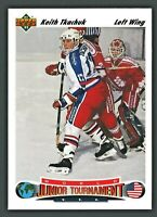 1991-92 UPPER DECK NHL HOCKEY CARD #698 KEITH TKACHUK ROOKIE MINT