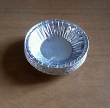 50 x Shallow Mince Pie or Jam Tart Foil Cases Pack Silver