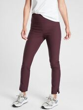 NEW Athleta Women's Size 8 Wander Slim Fitted High-Rise Ankle Pant Burgundy