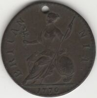 1770 George III Halfpenny | British Coins | Pennies2Pounds