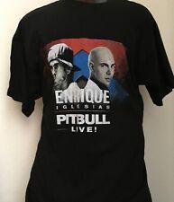 Enrique Iglesias & Pitbull Live Tour 2017 Black Xl T-Shirt Dates on Back