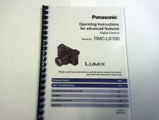 PANASONIC LUMIX DMC-LX100 PRINTED INSTRUCTION MANUAL USER GUIDE 332 PAGES A5