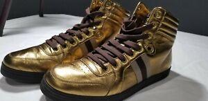 Men's Gucci Bronze Hightop Sneakers, Sz 13 US, Only Worn Once