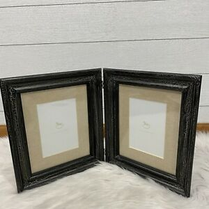 Pottery Barn Baby Picture Frame Crackle Double Hinge