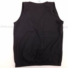 NWT Remz Creations Sleeveless Plunge Neck Top Women's Small Solid Black