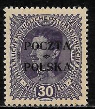 Poland stamps 1919 MI 37 signed  MLH  VF