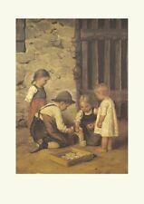 Fine partita per bambini 1906 di Franz Defregger fac simili 3 su carta cartoni