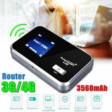 Portable 4G LTE WIFI Router Mobile Broadband Hotspot SIM Unlocked 3560mAh