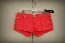 NWT TRUE RELIGION JOEY CUT OFF Size 29 Hot Mini Denim Short Shorts $169 Red