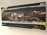 """750 PIECE JIGSAW PUZZLE  """"LAS VEGAS, NEVADA SKYLINE"""" PANORAMIC by BUFFALO GAMES"""