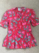 Beautiful Laura Ashley Made In Great Britain Blouse. Size 10.Floral.Perfect.