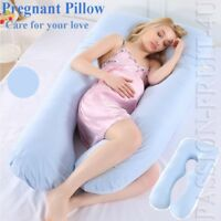 Pregnancy Pillow Maternity Belly Contoured Body U Shape Extra Pregnant - Blue