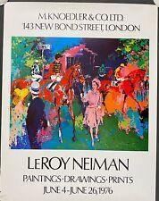 "1976 Leroy Neiman  ""Girl Leading Horse and Jockey"", Knoedler, London, 31x24"""
