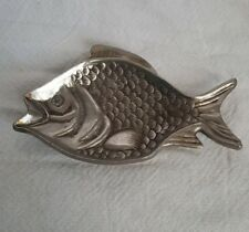 Vintage Brass Fish Pin/ Trinket Dish