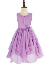 Flower Girl Dress Party Wedding Bridesmaid Princess Pleated Skirt Formal Dresses