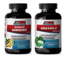 energy booster - KOREAN GINSENG – GRAVIOLA COMBO 2B - red ginseng powder pills