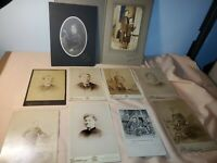 VINTAGE EARLY 19TH CENTURY B&W PHOTOGRAPHS 10PCS