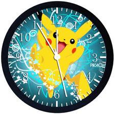 Pokemon Pikachu Black Frame Wall Clock Nice For Decor or Gifts Z66