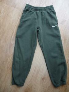 NIKE older boys dark green tracksuit trousers joggers AGE 10 - 11 YEARS