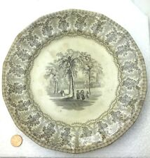 Antique Staffordshire Creamware Plate YALE College New Haven Connecticut Meigh