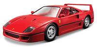 Bburago 1:24 Ferrari F40 Diecast Model Sports Racing Car Vehicle Toy IN BOX