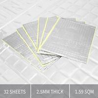 Thick Sound Proofing Vibration Deadening Sheets Bulk 32 PK Mat for Car / Van