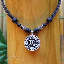 Sternzeichen Halskette SKORPION Scorpio verstellbar Surferkette Scorpion Sterne