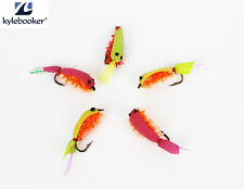 Small Shrimp Artificial Dry Fly Fishing Flies Assortment Trout  Baits  Feather