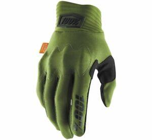 100% Cognito Gloves M Army Green/Black 10013-216-11