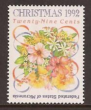 MICRONESIA # 154 MNH CHRISTMAS 1992, FLOWERS RIBBONS