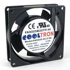 """92mm 25mm Case Fan 220V 230V AC 2 Pin Ball Bearing Muffin Axial PC 4"""" (HS9225B)"""