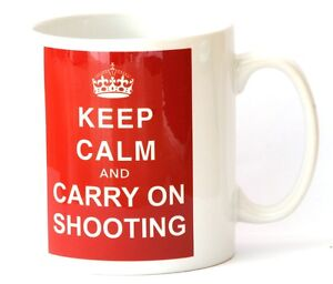 Shooting Gift Mug Keep Calm and Carry On Shooting NEW