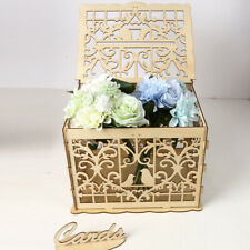 Wooden Pop Up Hollow Wishing Well Card Box Wedding Greeting Card Gift Boxes