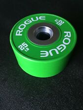 Single Rogue 25 LB Green Dumbbell Olympic Bumper Plate