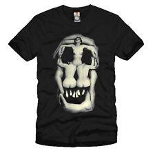 Salvador Dali Woman Skull Artists Funny Tee Men Punk Rock T-Shirt Black # Size M