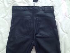 R13 Womens Black High Waisted  Faux Leather Legging Size 26 RUNS SMALL