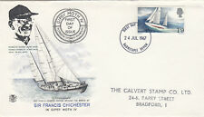 (08511) CLEARANCE GB Stuart FDC Francis Chichester BARNSTABLE (Birthplace) 1967