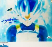 Chris Sabat signed VEGETA 11X14 METALLIC photo BAS COA WAO4930