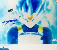 Chris Sabat signed VEGETA 11X14 METALLIC photo BAS COA WAO4930