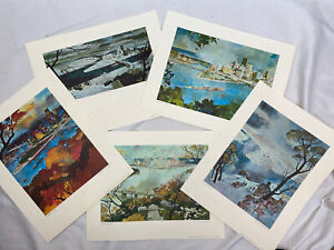 Nat Youngblood Pittsburgh Seasons Prints- Lot Of 5