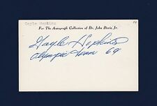 Gayle Hopkins signed Olympics index card