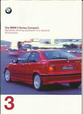 BMW 3 SERIES COMPACT - INC. SPORT, LUX AND SE PACKAGES CAR  BROCHURE 1997 1998