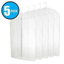 """40"""" PEVA Hanging Translucent Garment Bags with Zipper for Travel Storage 5 Pack"""